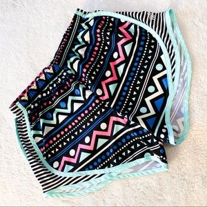 🌻3for25🌻 AZTEC PRINT DRAWSTRING WORKOUT SHORTS